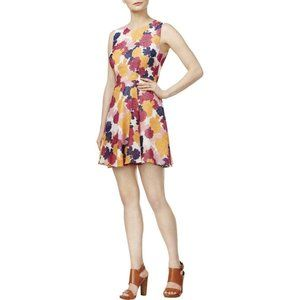Maison Jules Floral Fit & Flare Sleeveless Dress